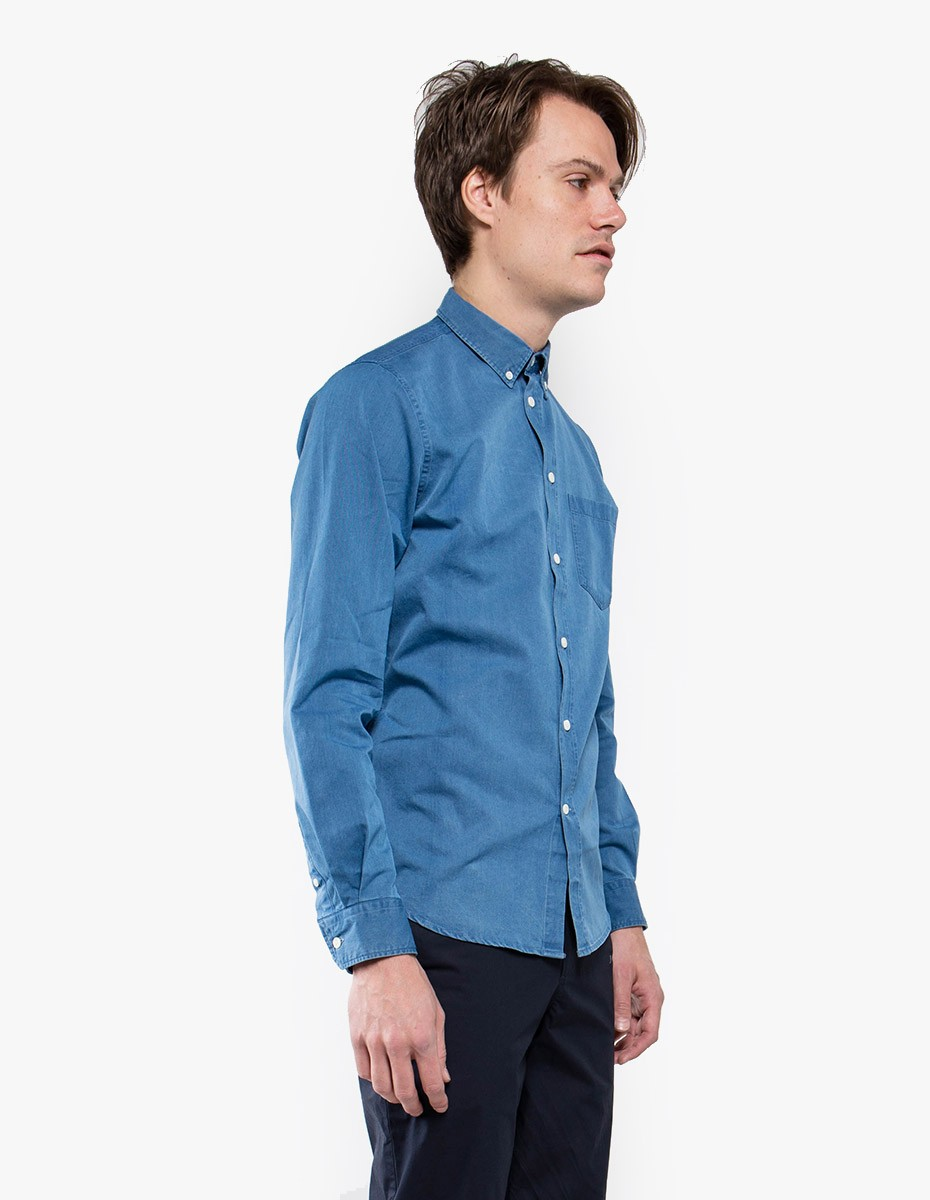 Norse Projects Anton Denim Shirt in Sunwashed Blue