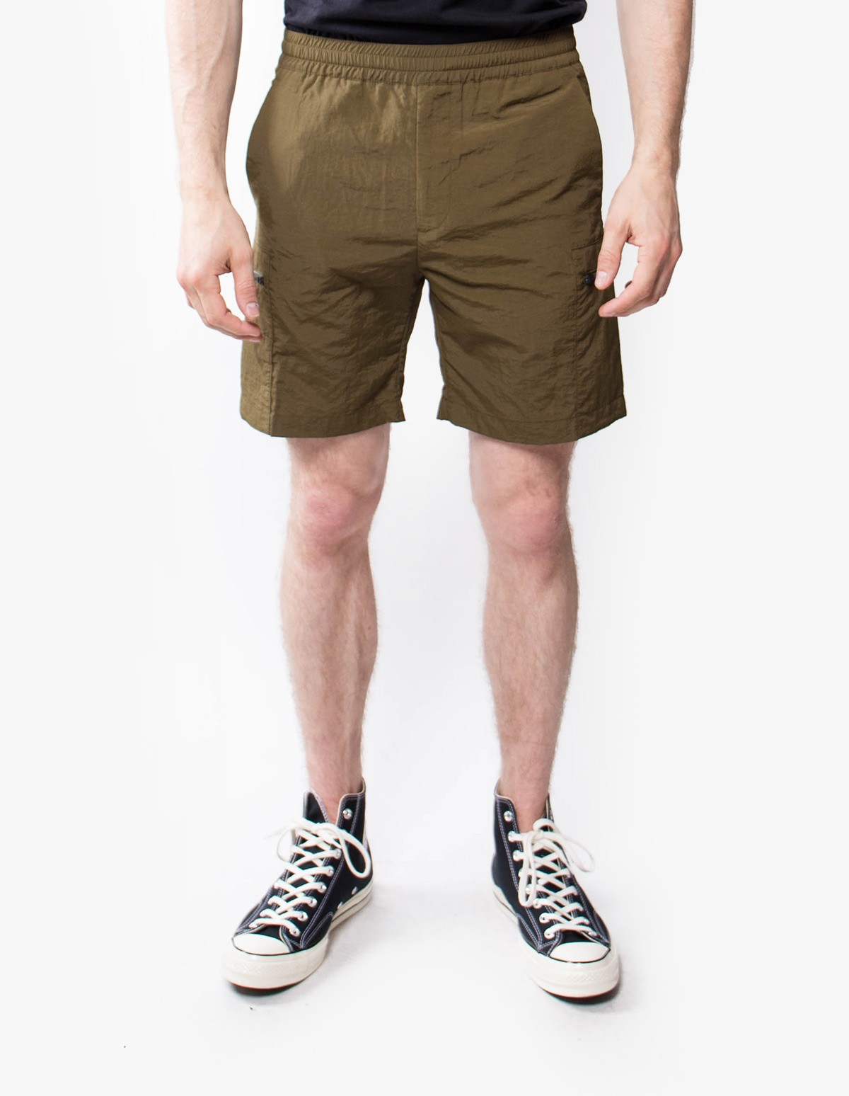 Norse Projects Luther Straight Shorts in Ivy Green