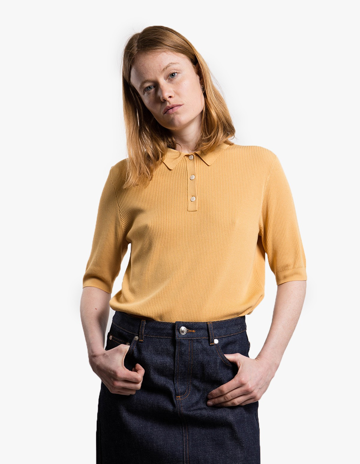 Norse Projects Maj Cotton  in Corn Yellow