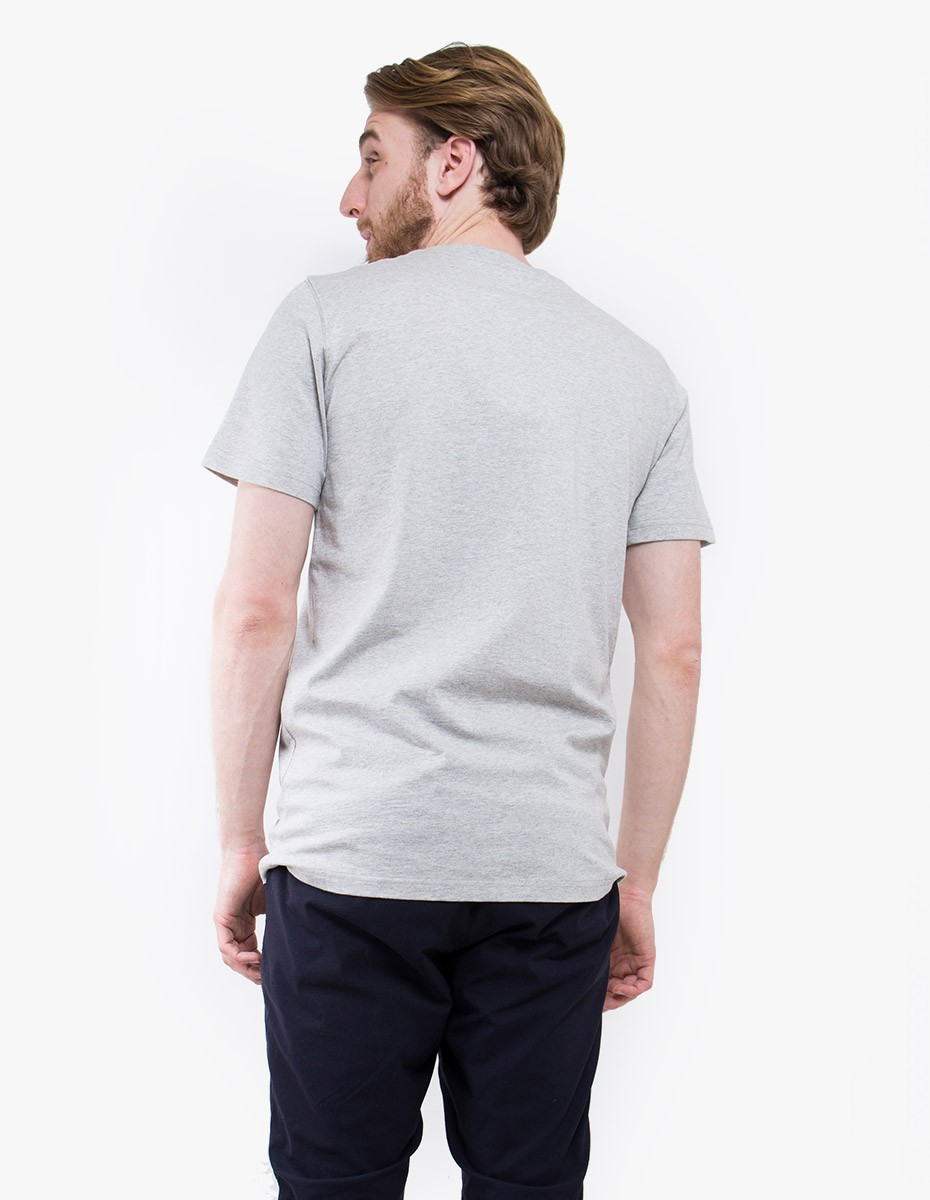Norse Projects Niels Basic T-shirt in Light Grey Melange