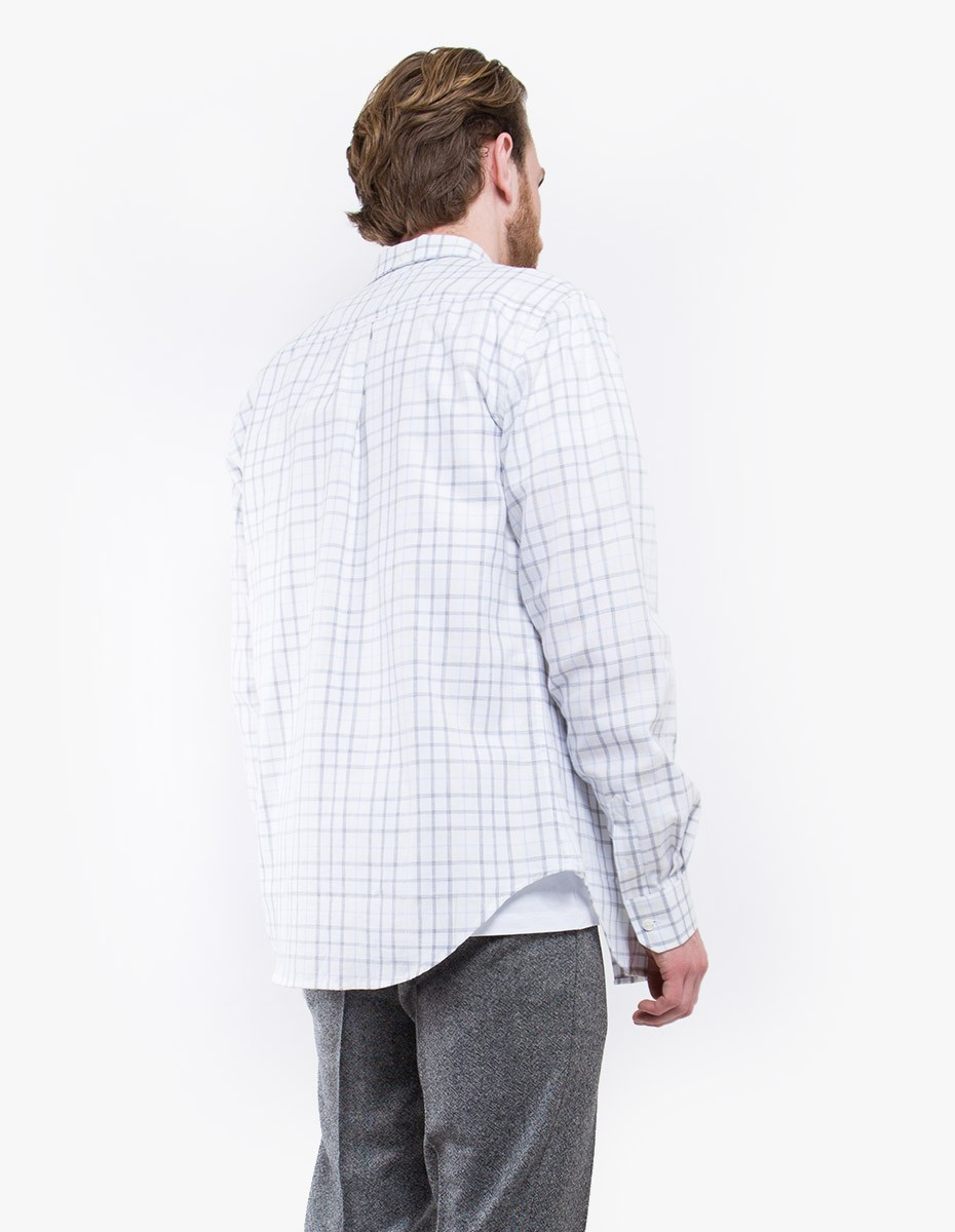 Norse Projects Osvald Light Check Shirt in White