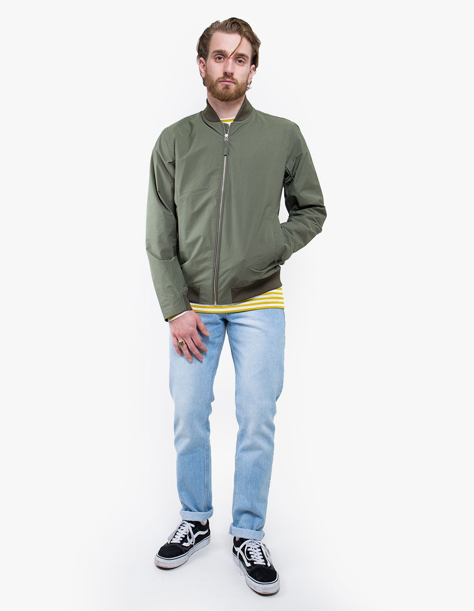 Norse Projects Ryan Crisp Cotton Jacket in Dried Olive