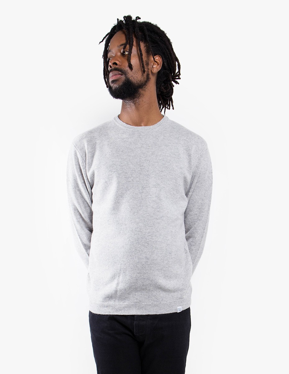 Norse Projects Sigfred Lambswool in Light Grey Melange