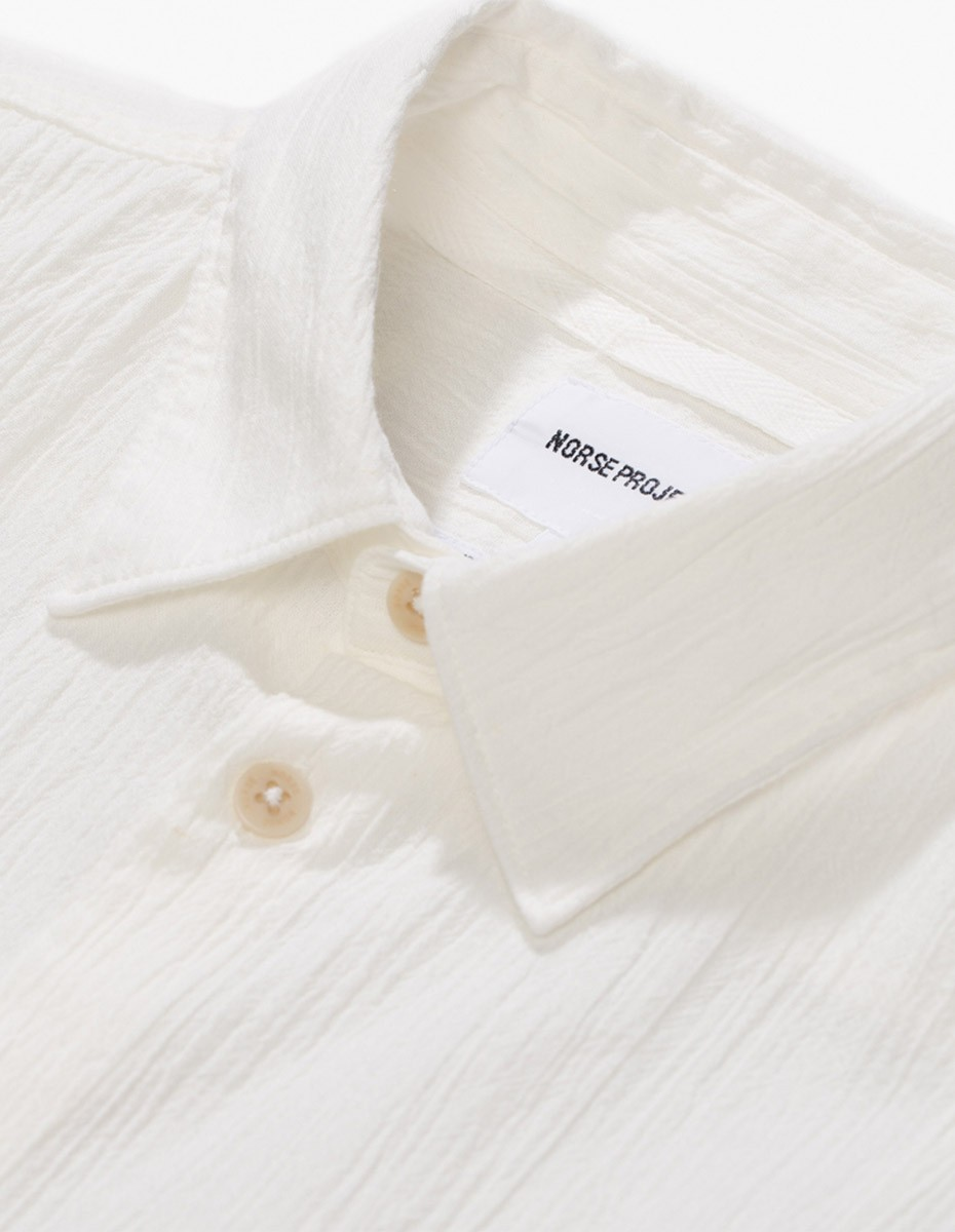 Norse Projects Theo Japanese SS Shirt in White