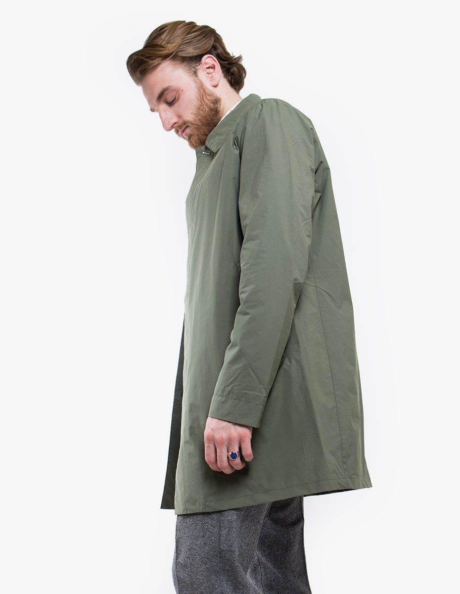 Norse Projects Thor Crisp Cotton Jacket in Dried Olive