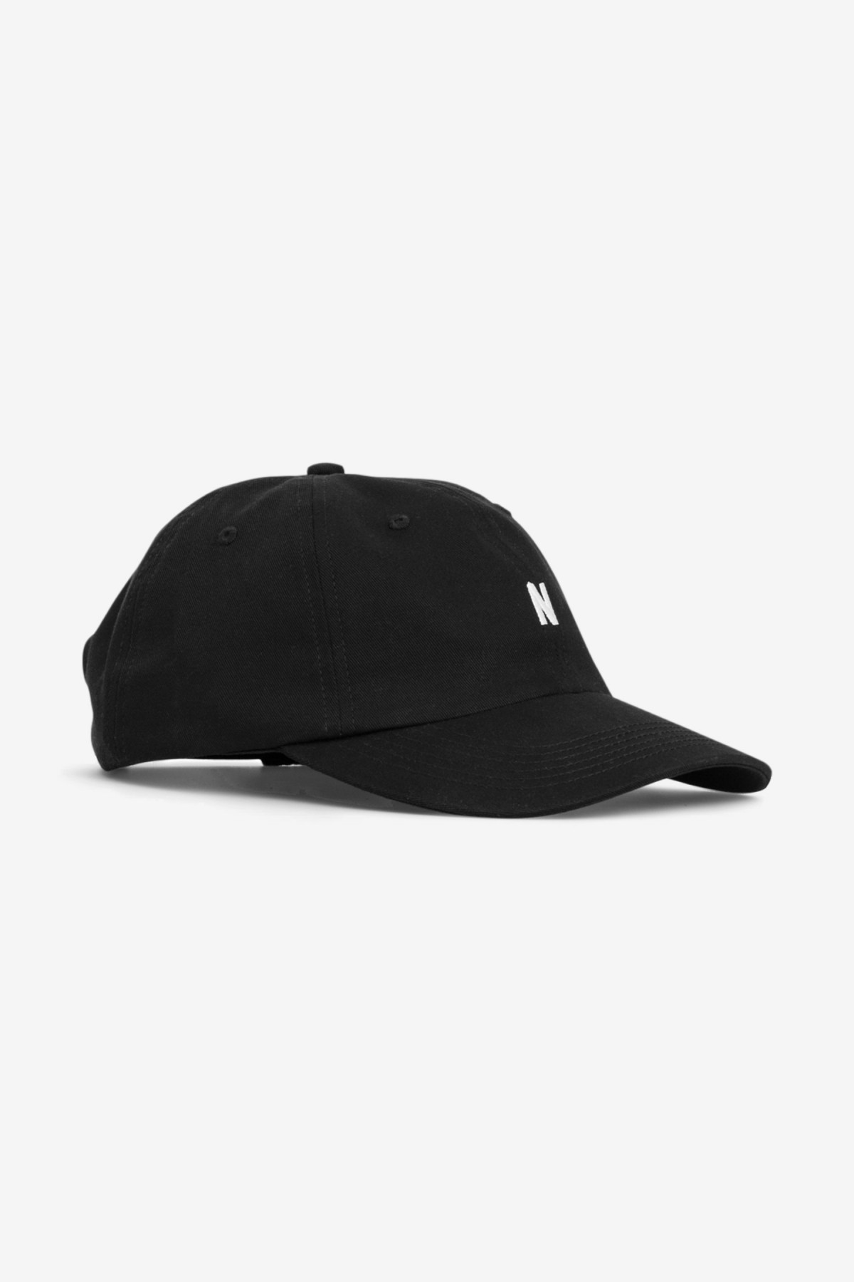 Norse Projects Twill Sports Cap in Black