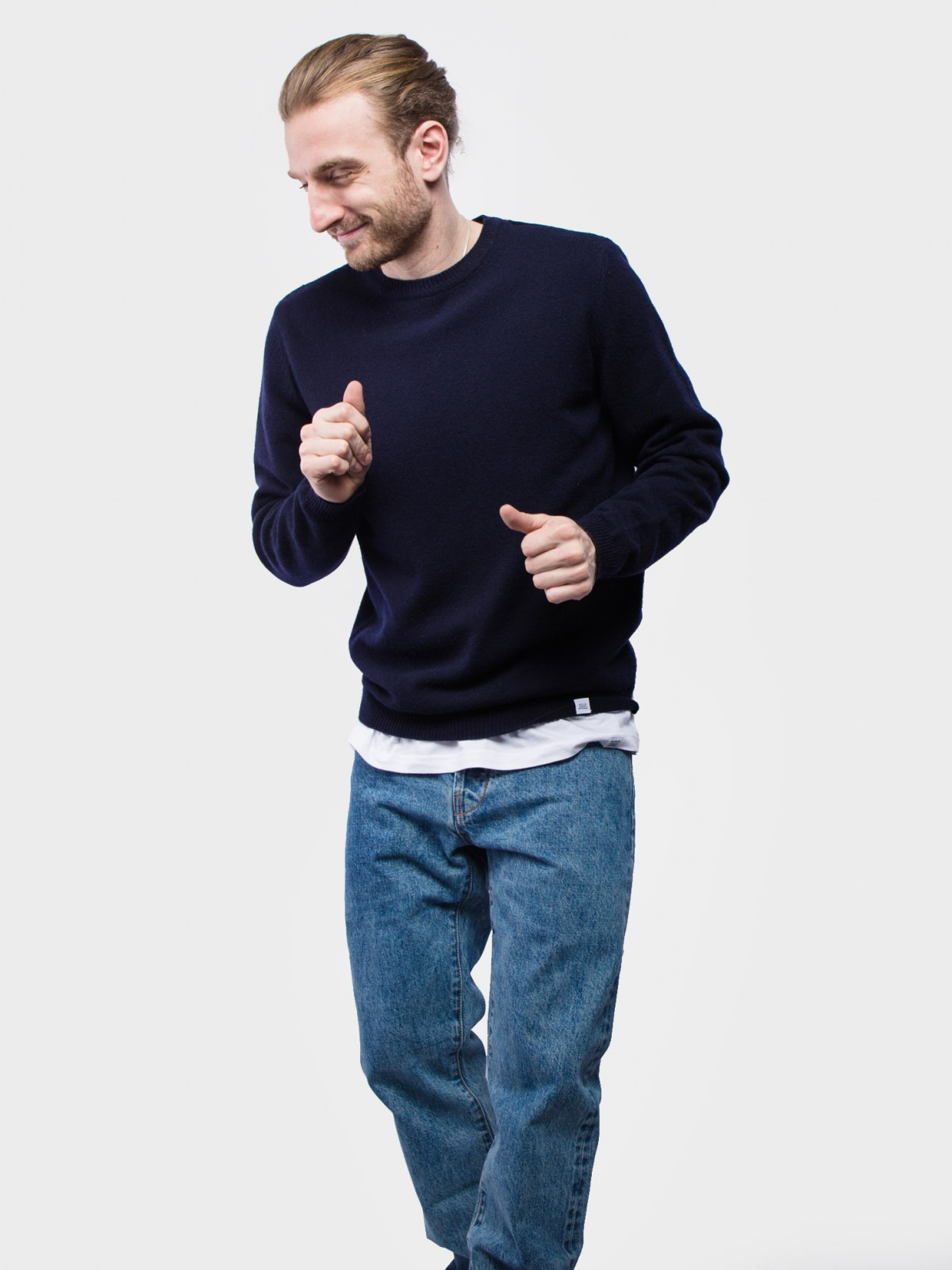 Norse Projects Sigfred Lambswool  in Dark Navy