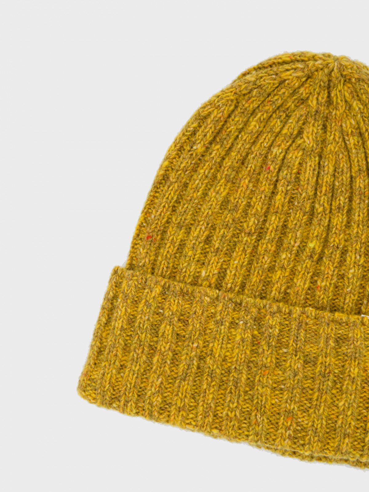Norse Projects Neps Beanie in Mustard Yellow