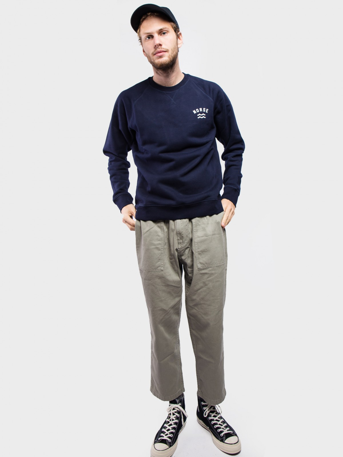 Norse Projects Ketel Ivy Wave Logo in Dark Navy