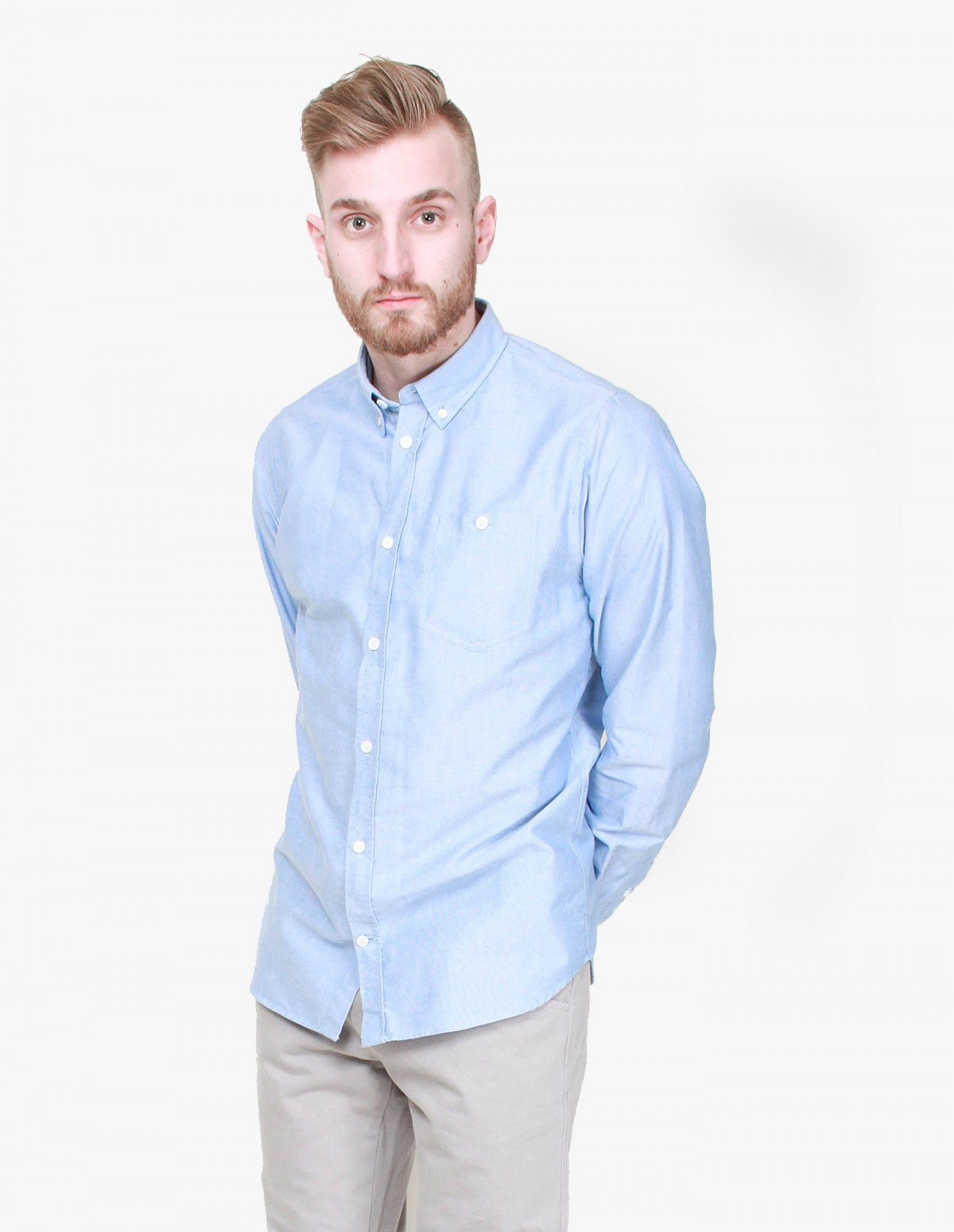 Norse Projects Anton Oxford in Navy