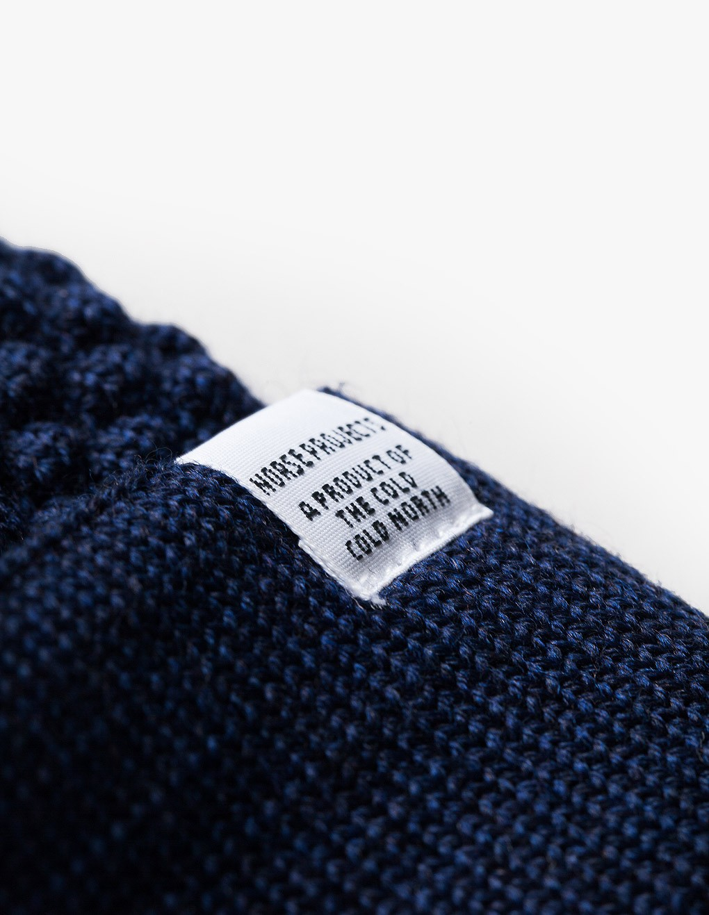 Norse Projects Bubble Stripe Beanie in Navy