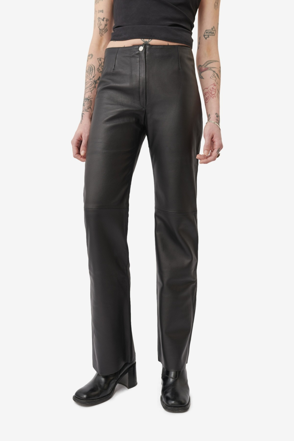 Our Legacy Biker Trouser in Black Leather