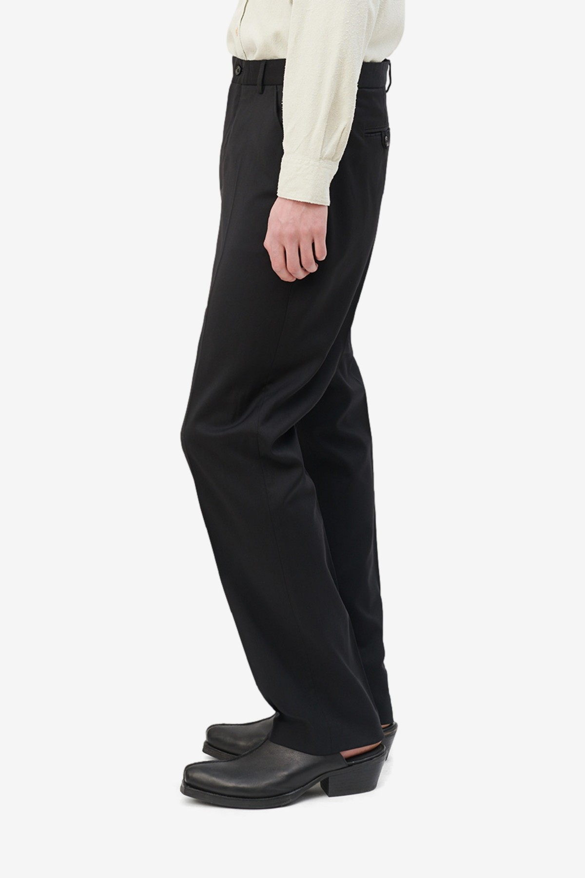 Our Legacy Chino 22 in Black Worsted Wool
