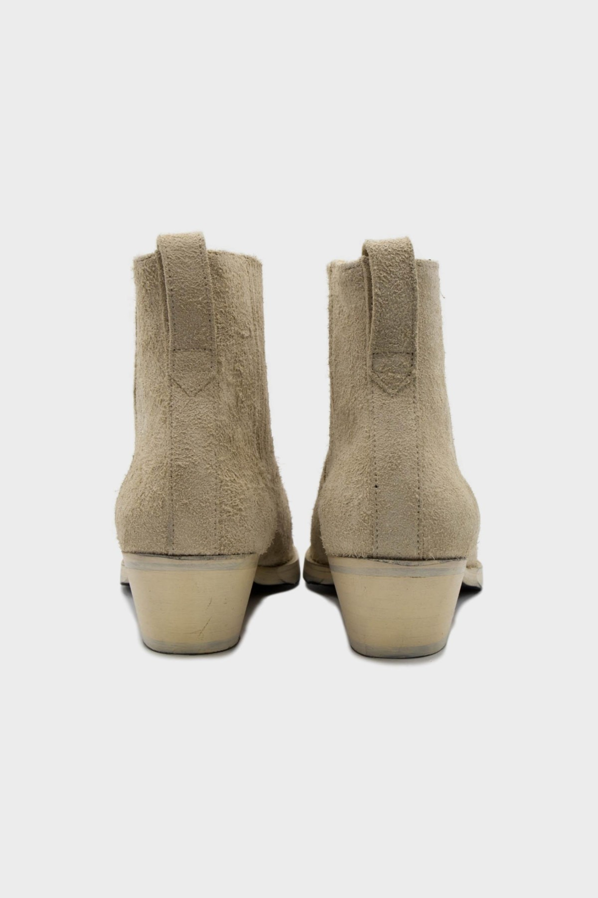 Our Legacy Cuban Boot in Suede Beige