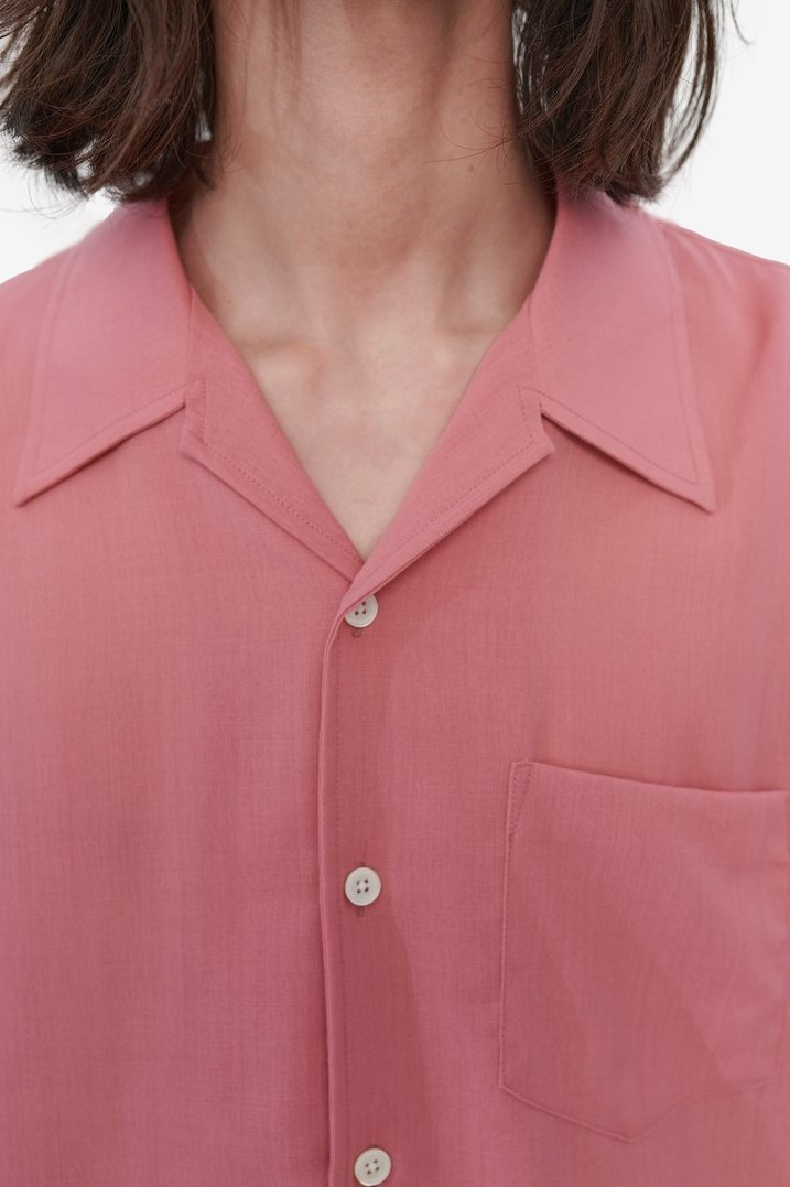 Our Legacy Loco Shirt in Pink Tech Wool