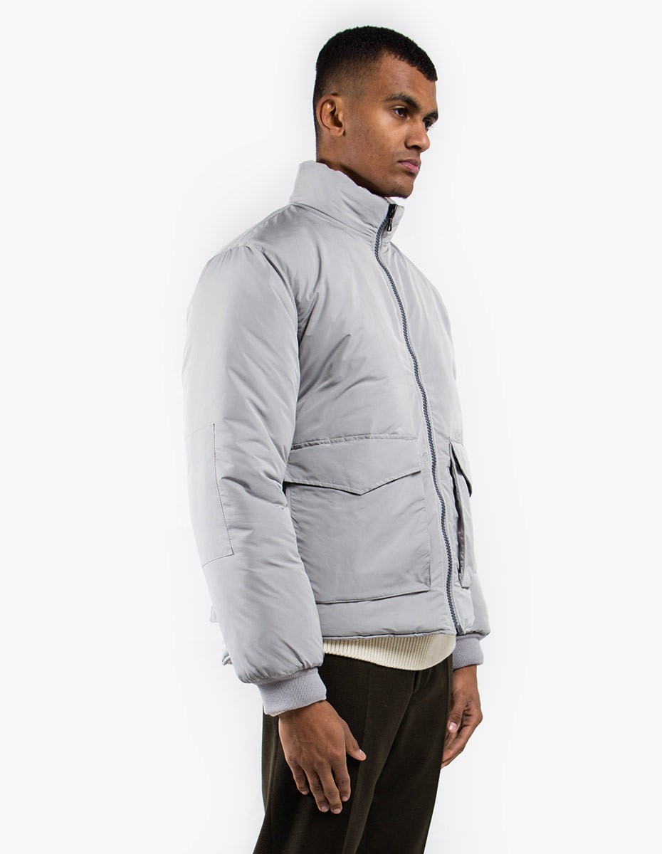 Our Legacy Puffed Funnel Jacket Silver Bullet  in Silver Bullet