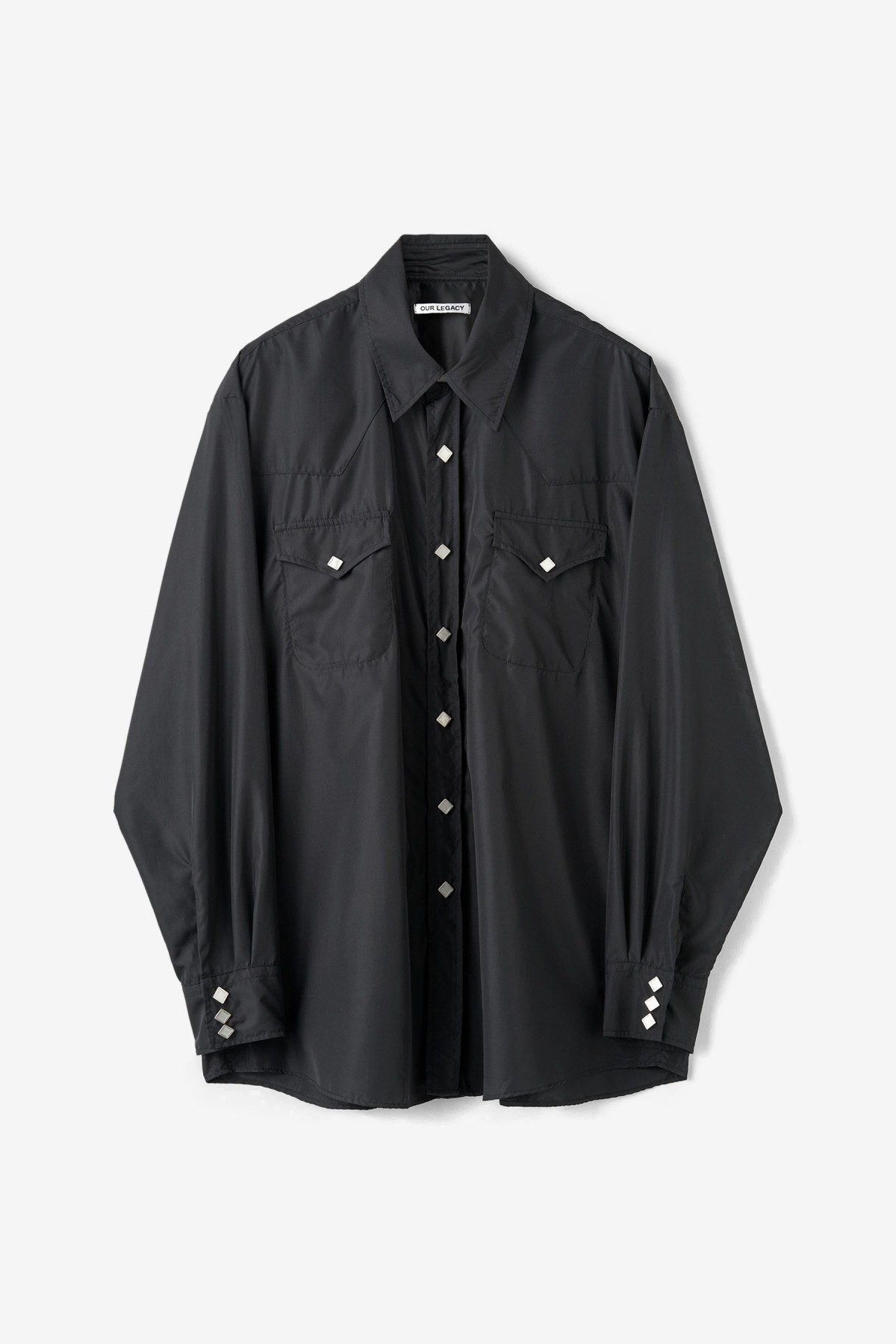 Our Legacy Ranch Shirt in Black Dull Luster
