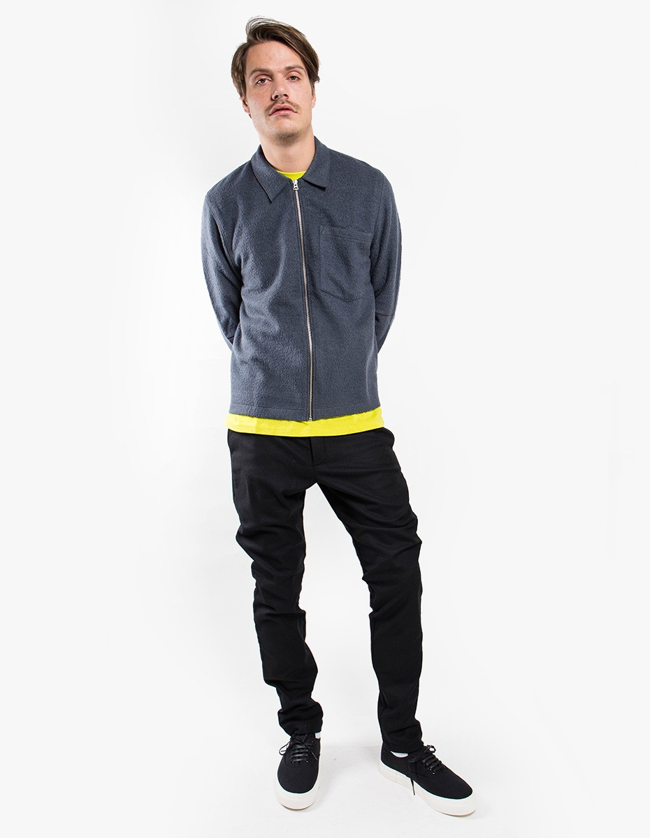 Our Legacy Raw Edge Blouson in Graphite Curl