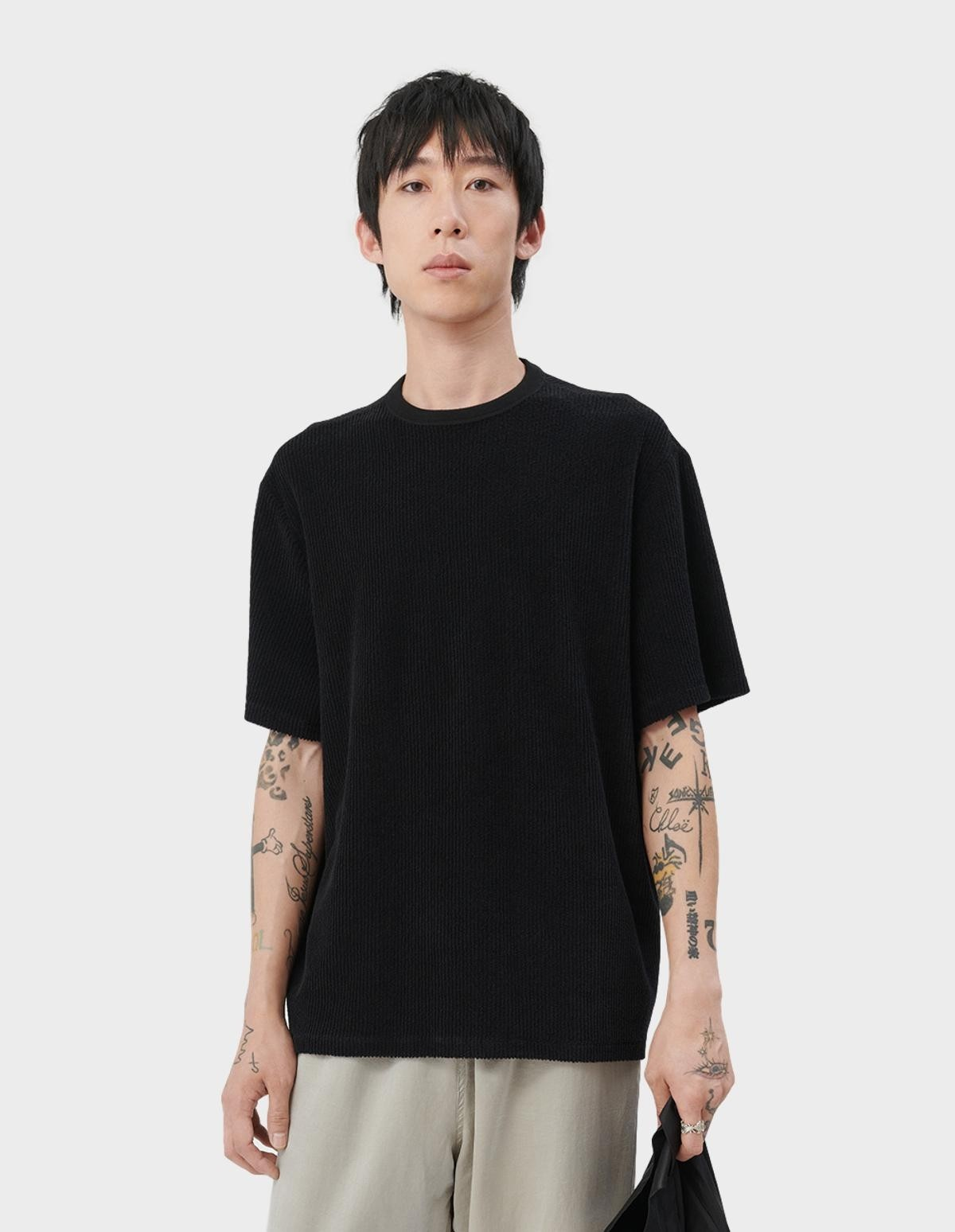 Our Legacy New Box T-Shirt in Black Cord
