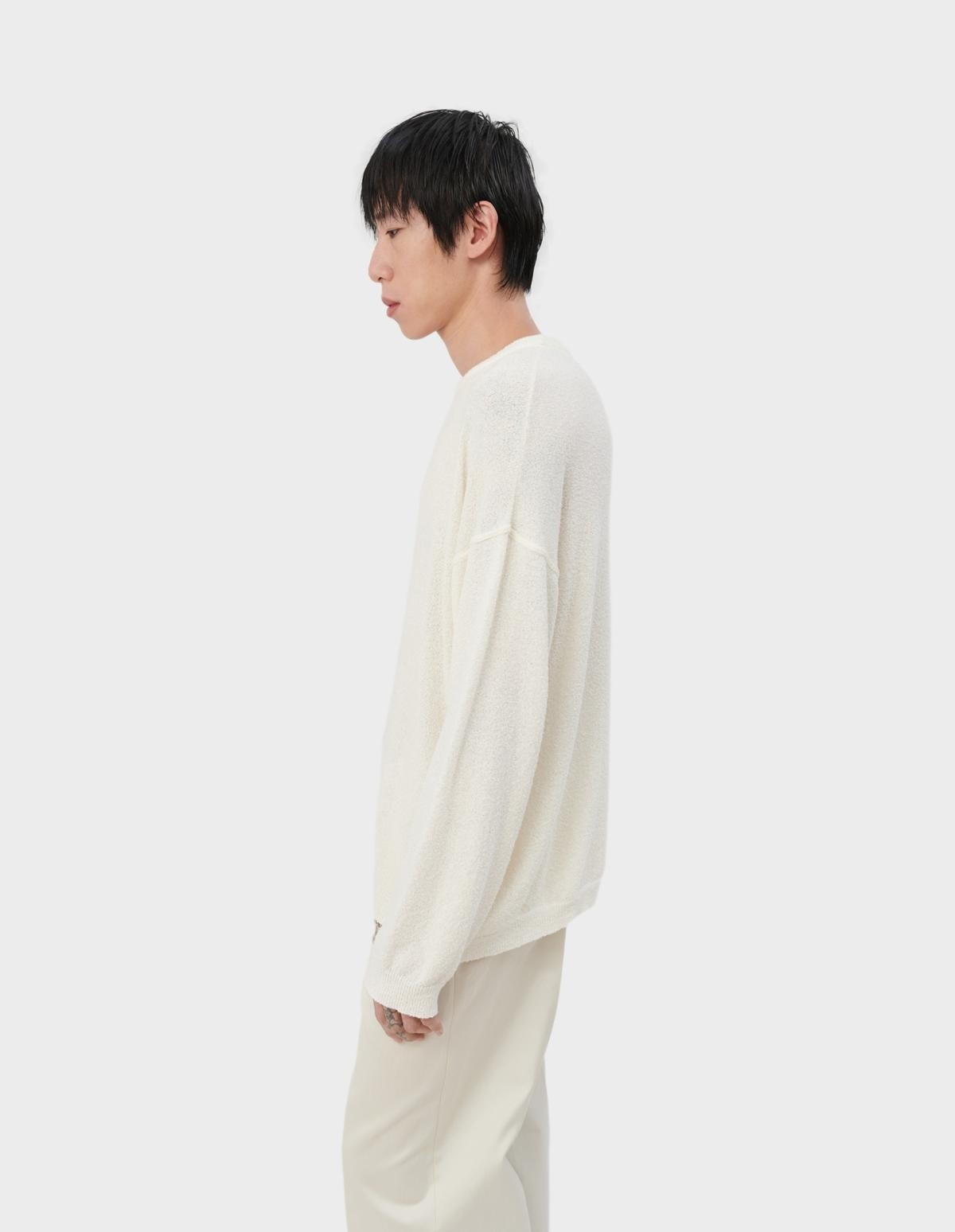 Our Legacy Popover Roundneck in Cream White