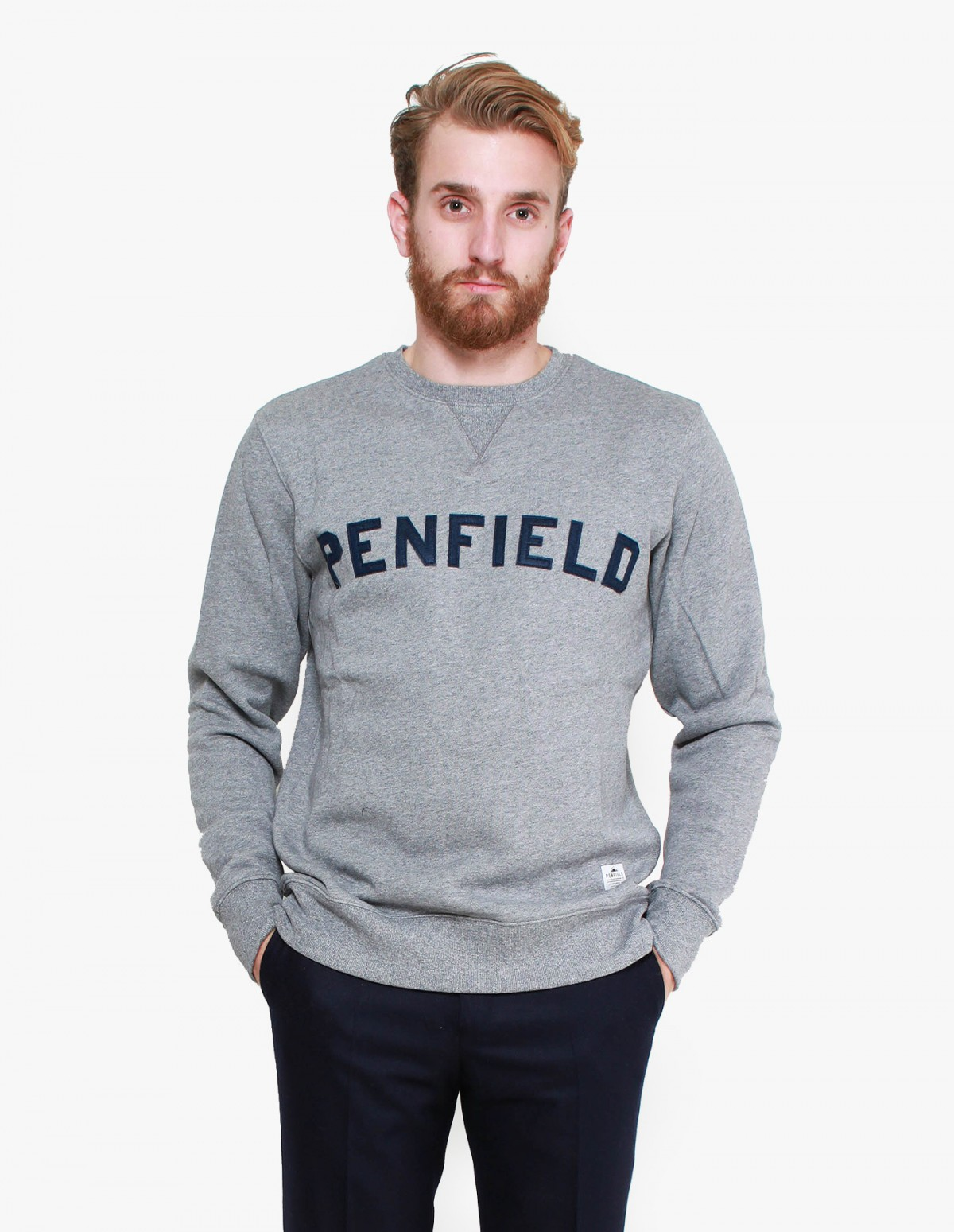 Penfield Brookport Crew in Grey