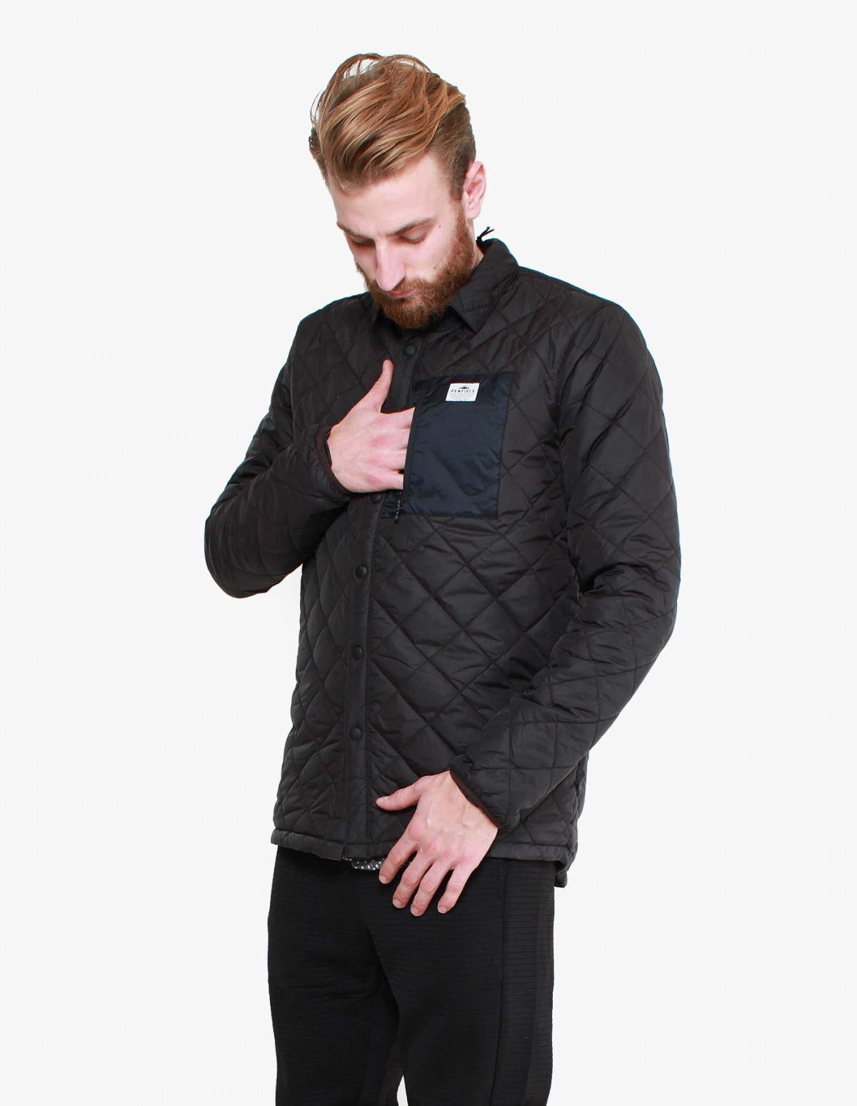 Penfield Courtland Polyester Jacket in Black