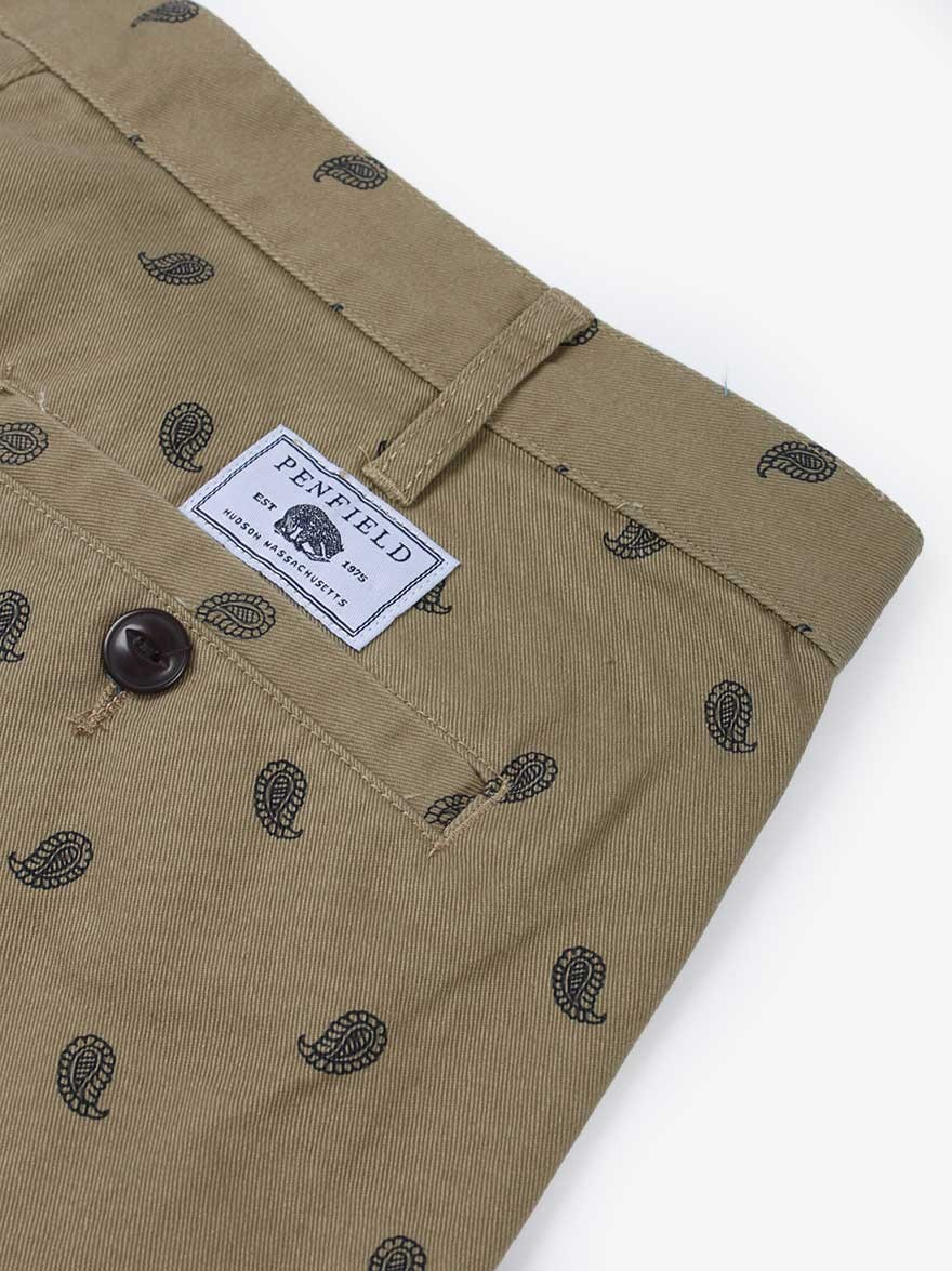 Penfield Emberton Short in Tan Paisley