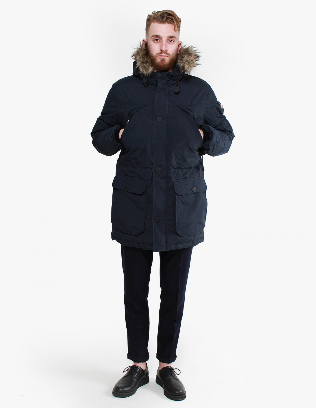 Penfield Hoosac Faux fur Parka in Navy