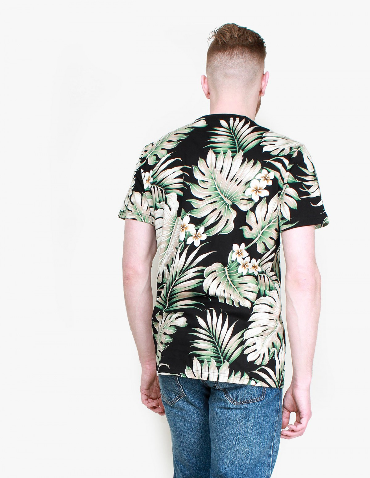 Penfield Kula T-Shirt in Black Palm