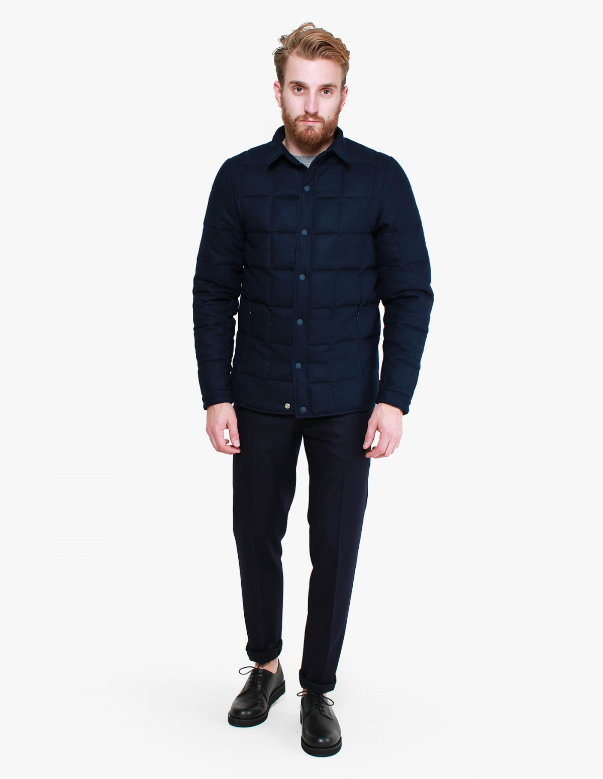 Penfield Loring Melton Wool Thermal Jacket in Navy