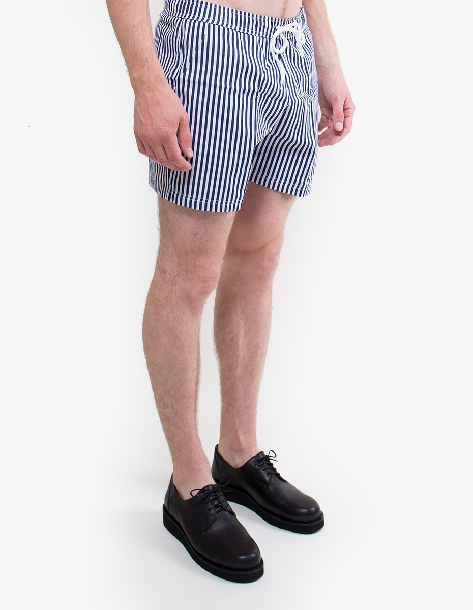 Pleasant Striped Shorts in Navy / White