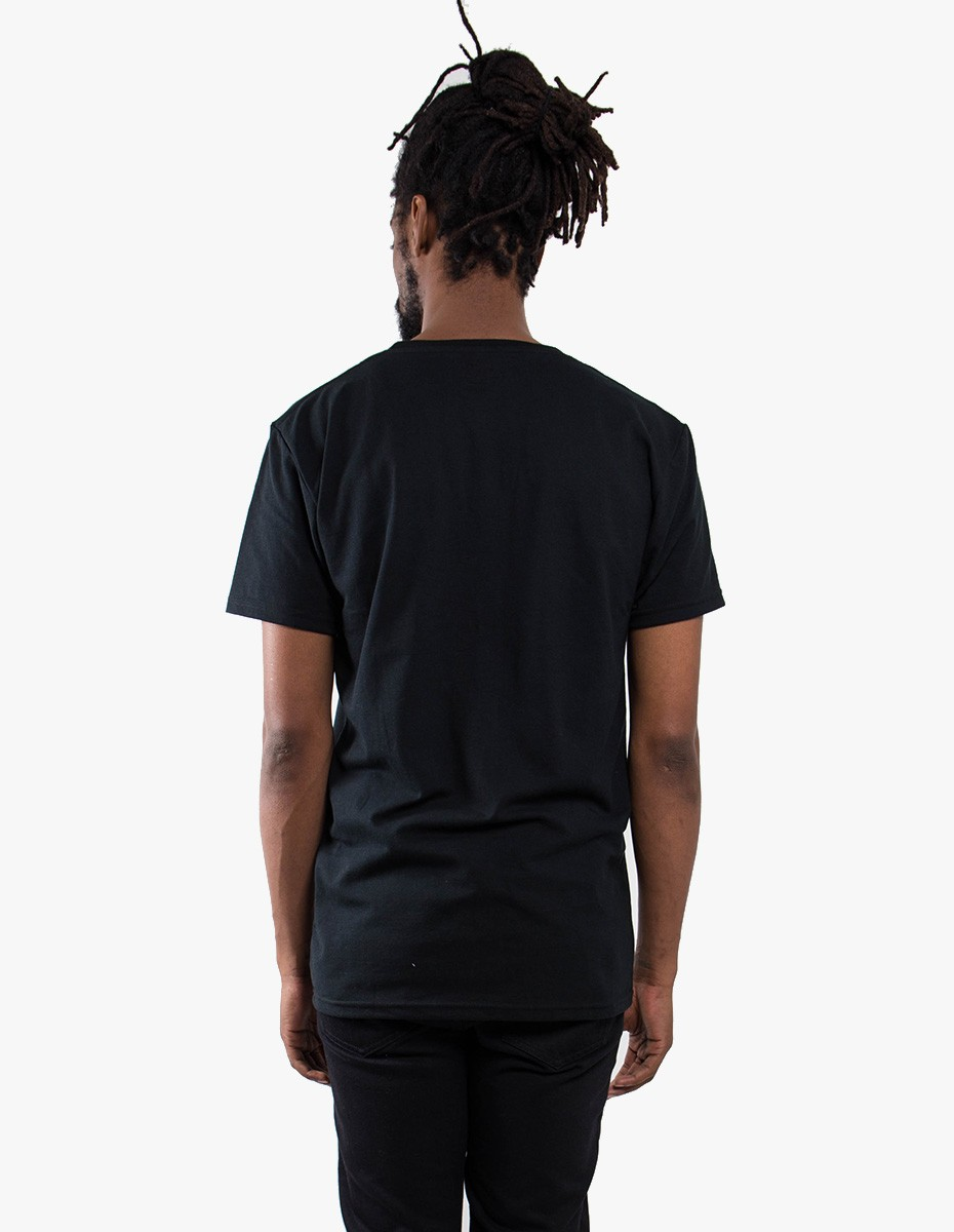 Pleasant Game Over Pique Tee in Black