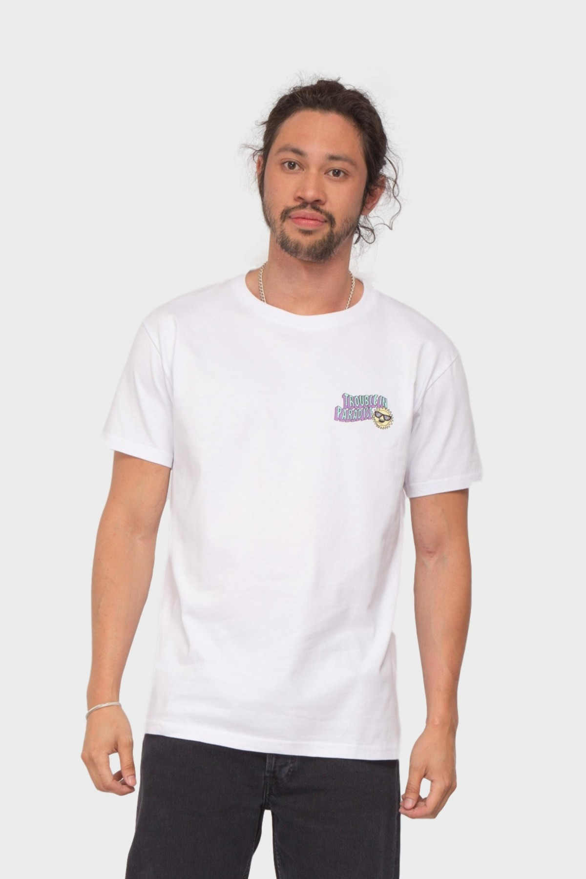 Pleasant Island Trouble Tee in White