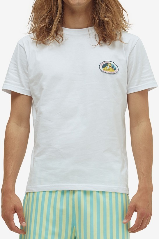 Pleasant Patch Tee in White