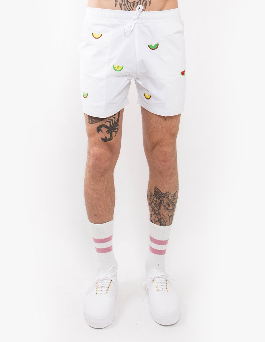 Pleasant Exotic Fruits Shorts in White