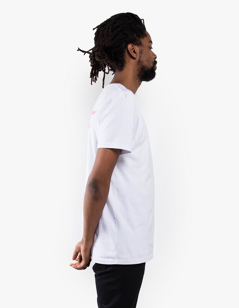 Pleasant Sunset Island Tee in White