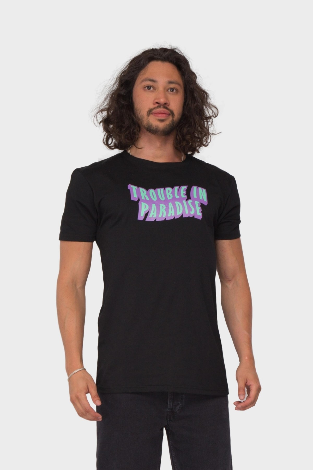 Pleasant Trouble in Paradise Tee in Black