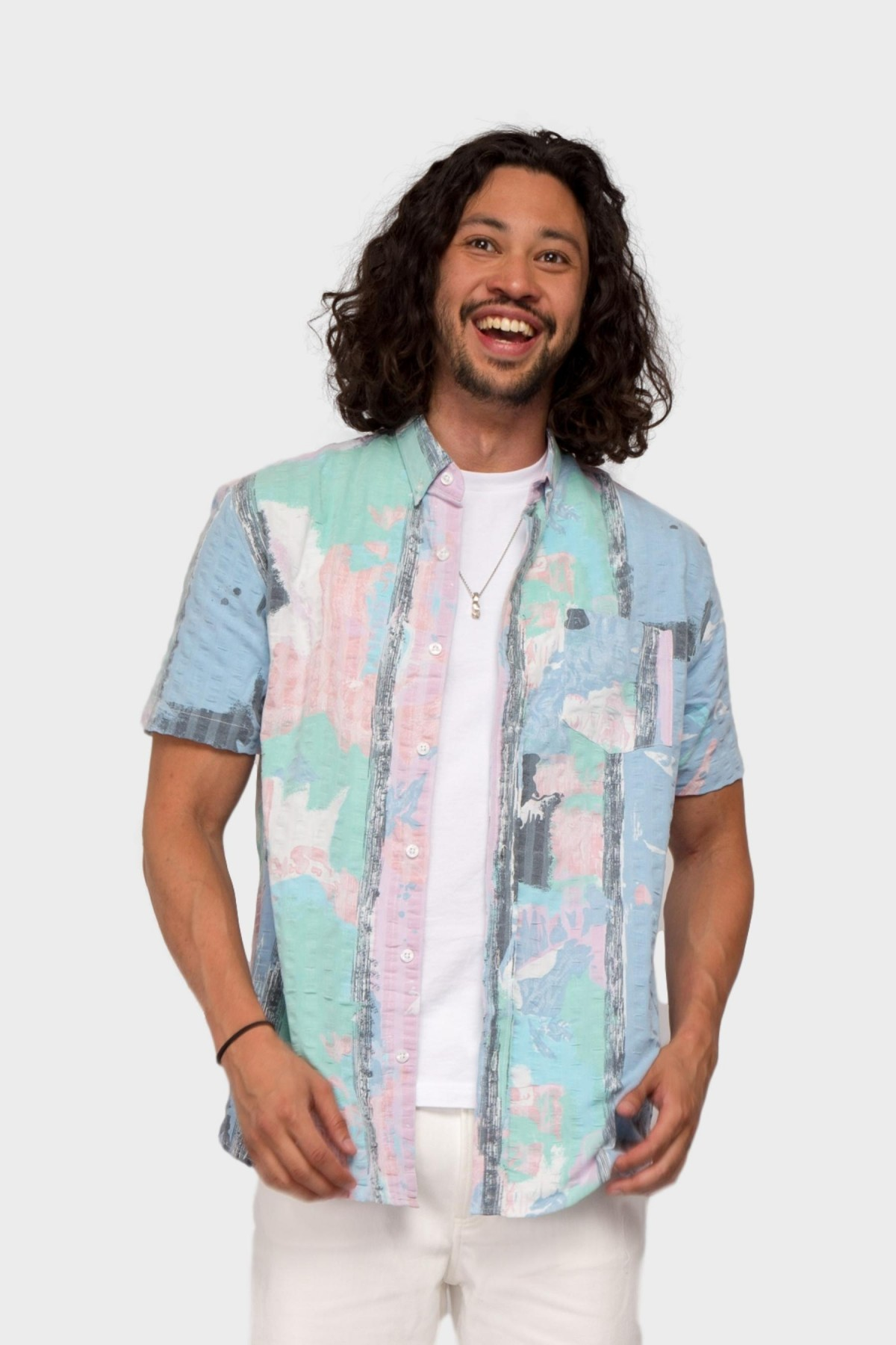 Pleasant 100 % Upcycled Shirt in Multi