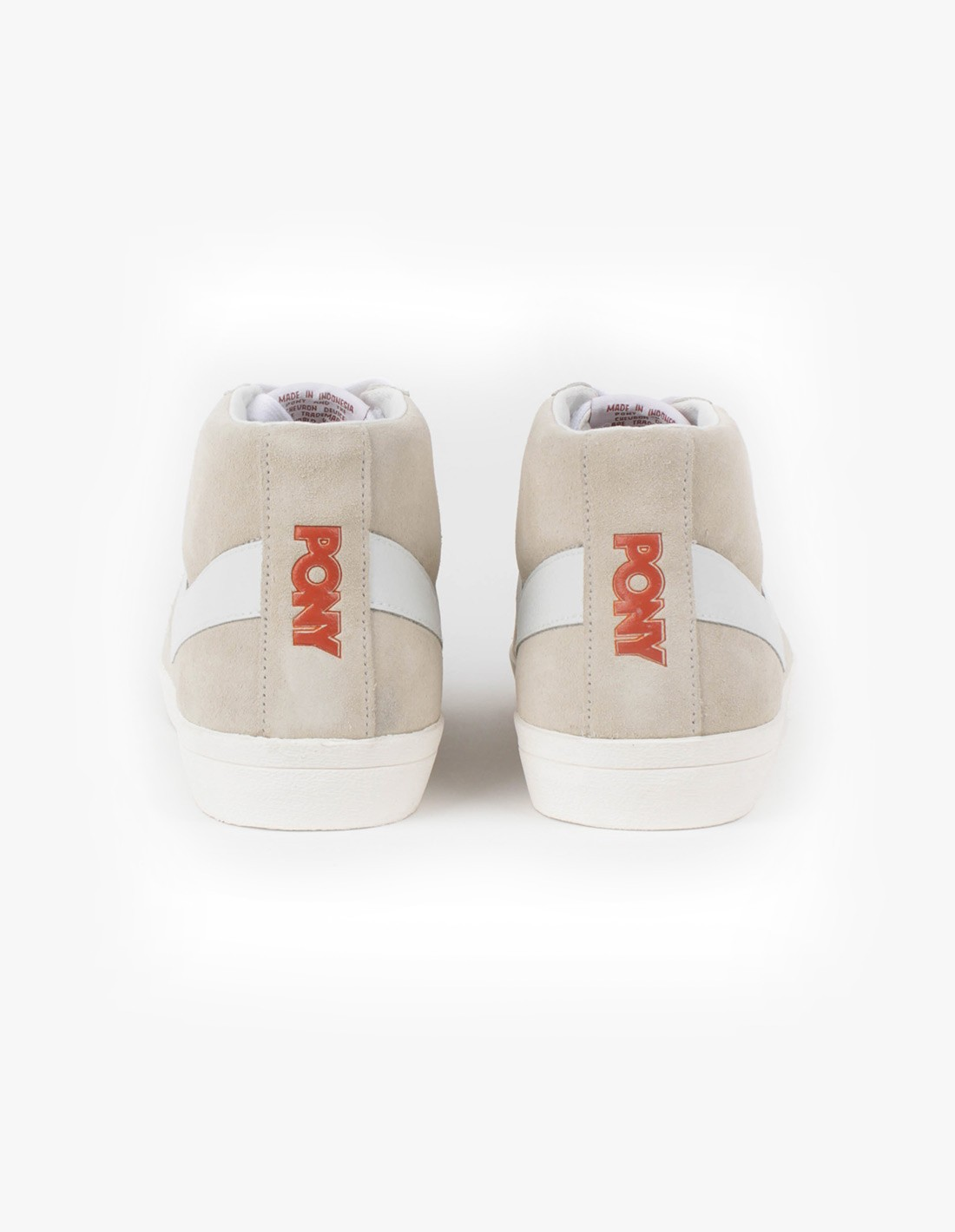PONY Topstar Suede Hi in Off White