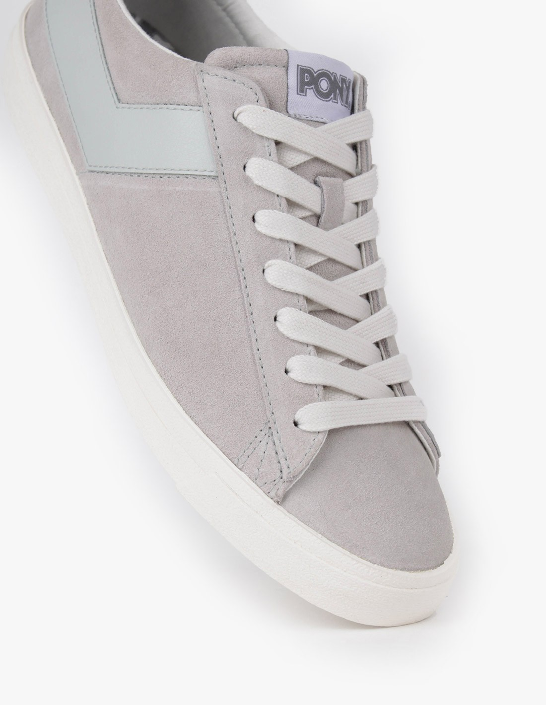 PONY Topstar Suede Ox in Light Grey