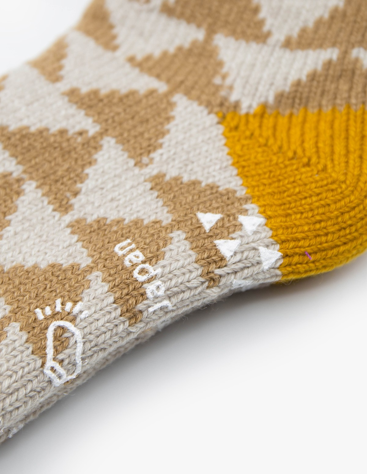 RoToTo Comfy Room Socks  in Beige / Gold
