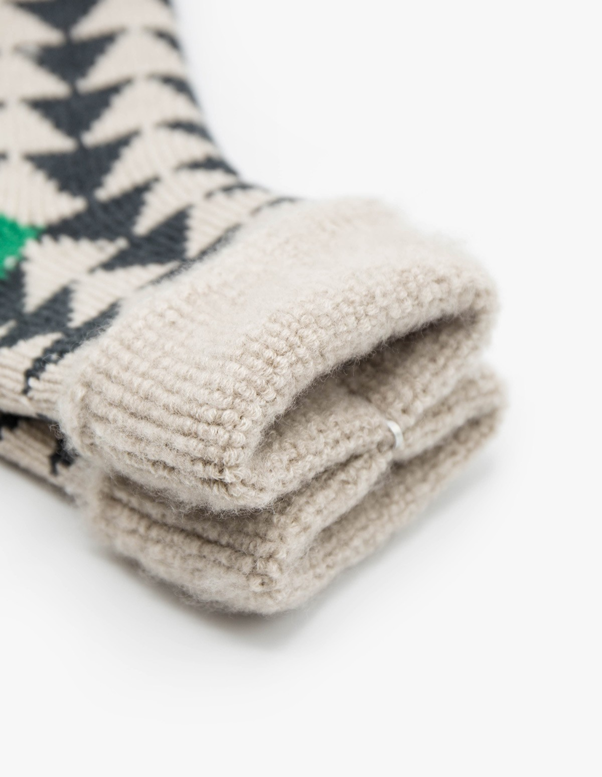 RoToTo Comfy Room Socks  in Charcoal / Green