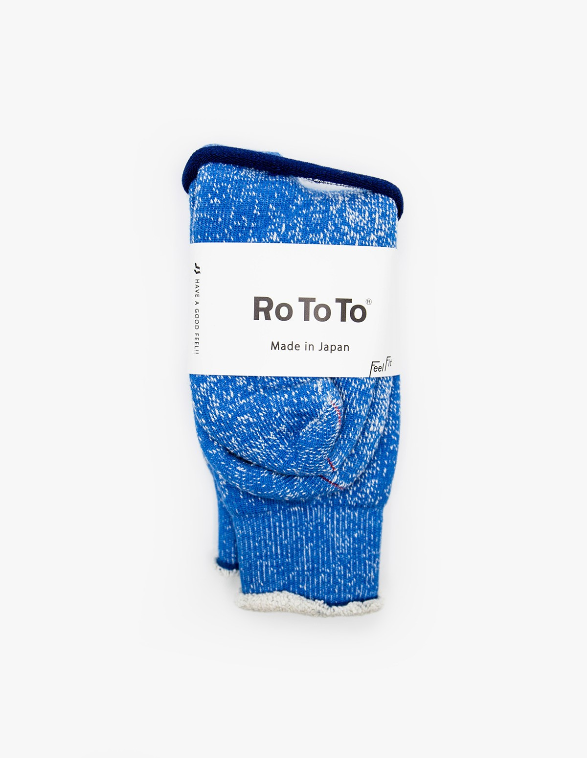 RoToTo Double Face Socks in Blue