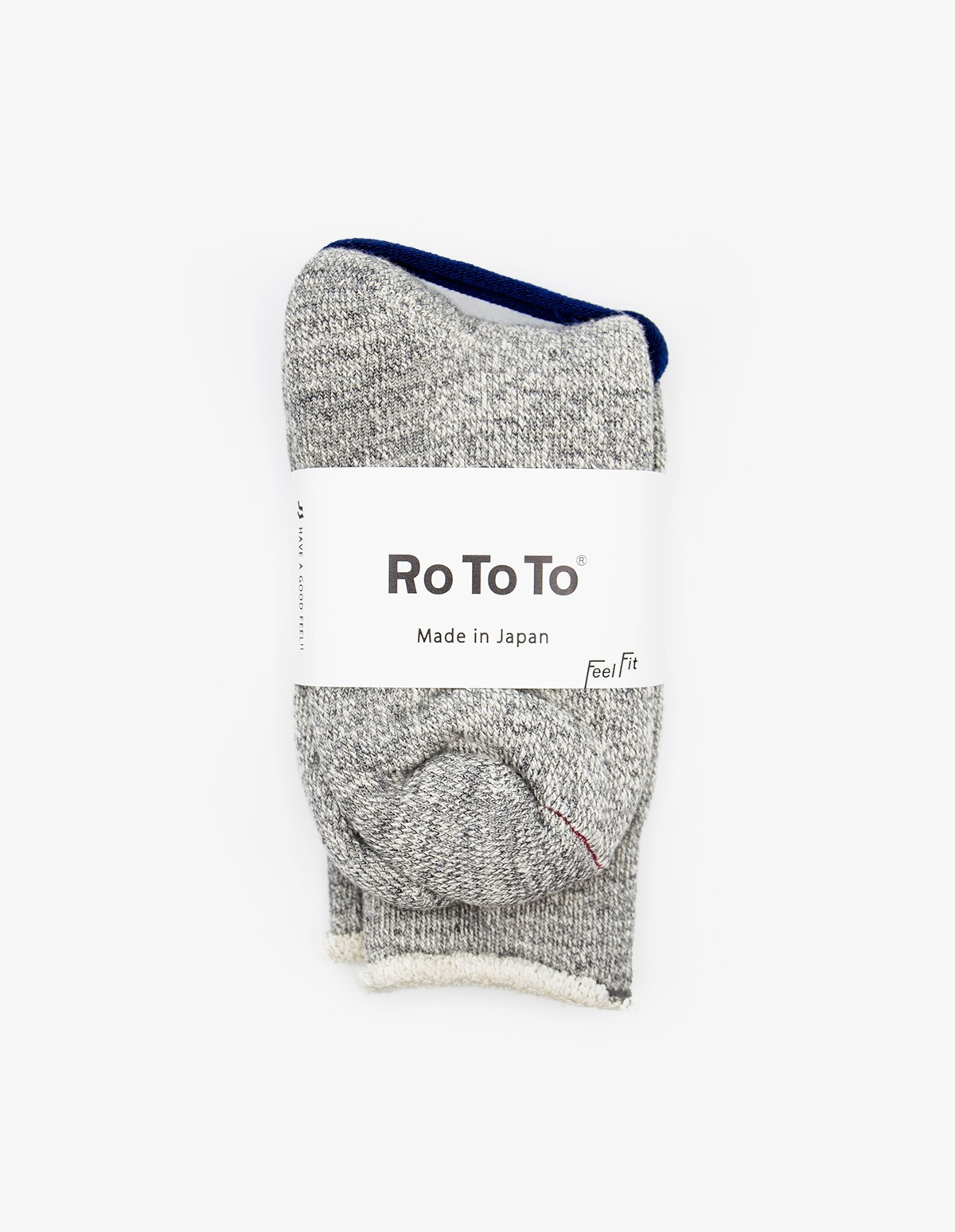 RoToTo Double Face Socks in Charcoal