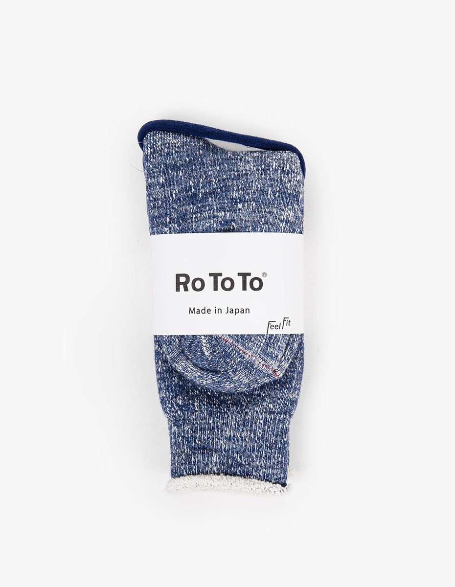 RoToTo Double Face Socks in Deep Ocean