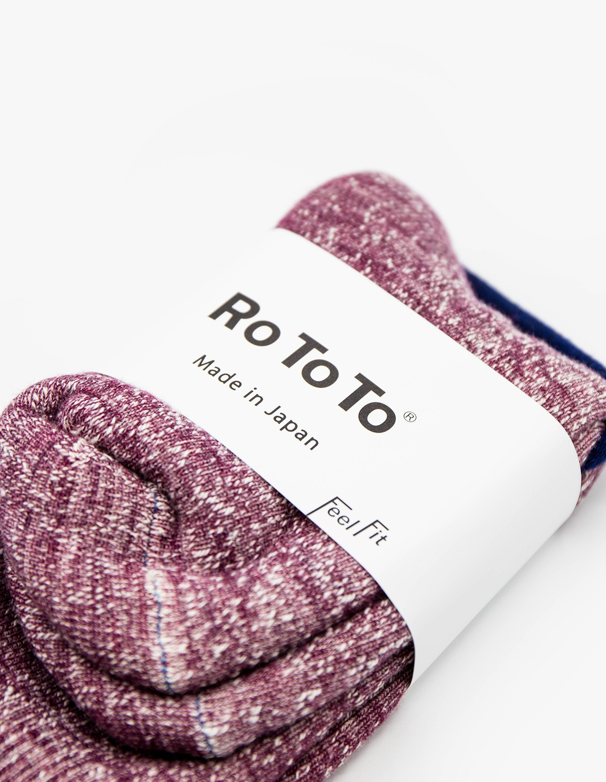 RoToTo Double Face Socks in Grape