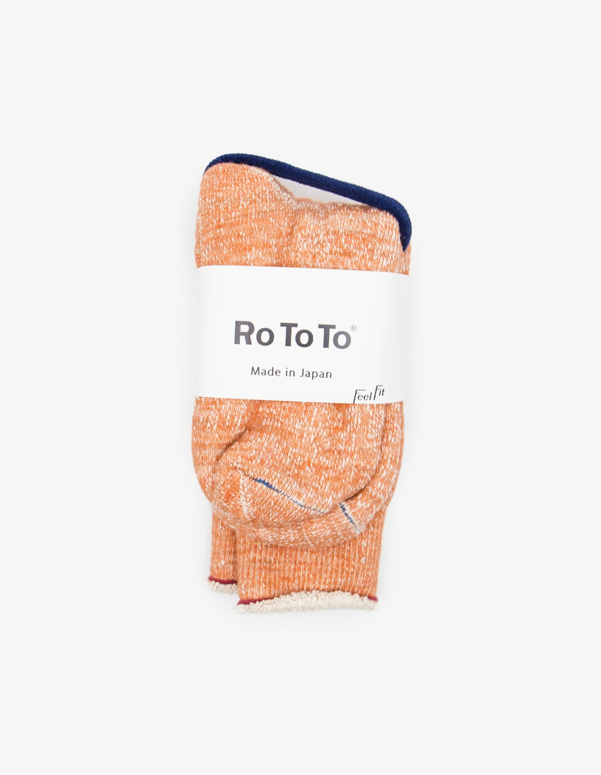 RoToTo Double Face Socks in Orange