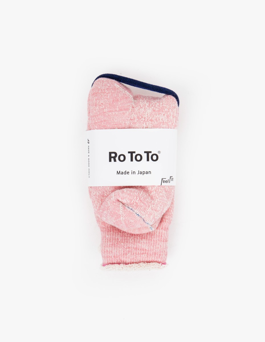 RoToTo Double Face Socks in Pink