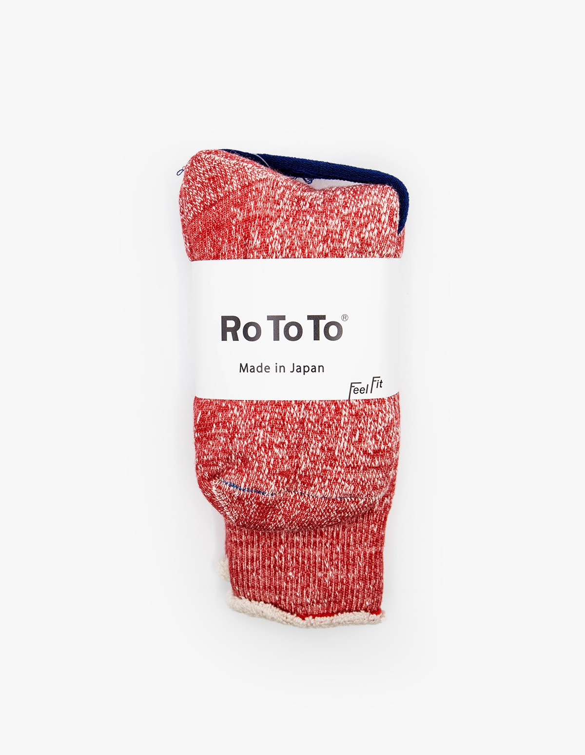 RoToTo Double Face Socks in Red