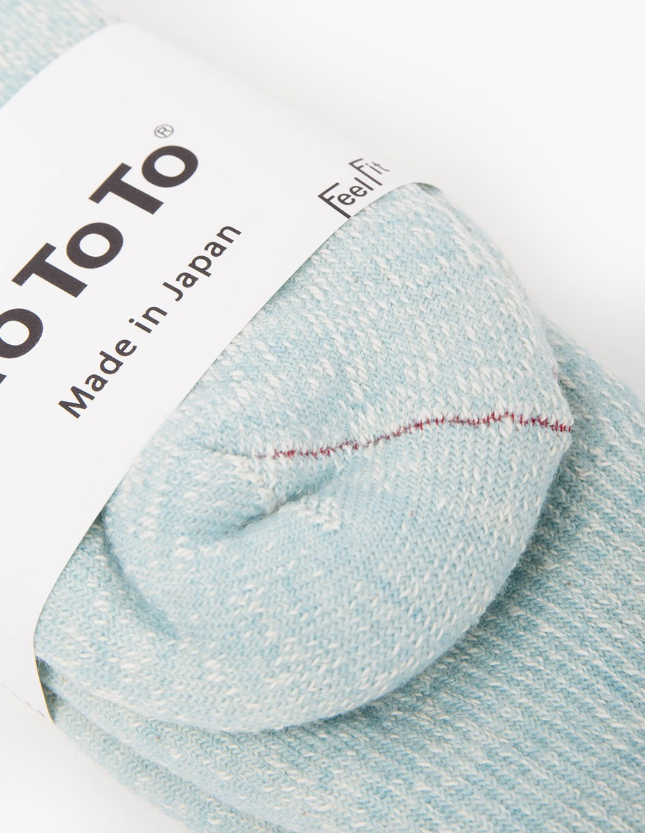 RoToTo Double Face Socks in Sax